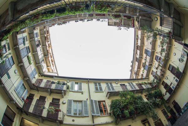 Milano - via Corsico: vista cortile