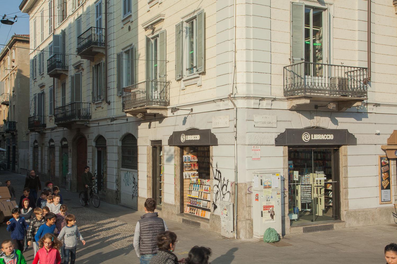 Milano - via Corsico: facciata esterna